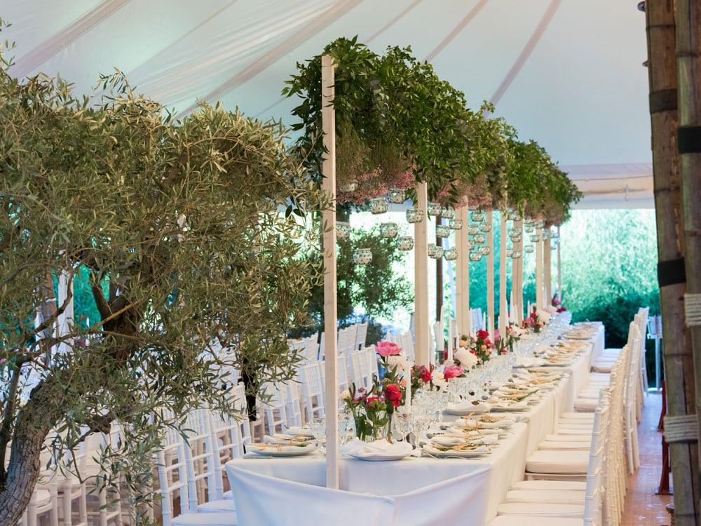 décors floraux banquet